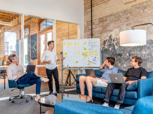 The workspace and seating arrangements are indicators of company culture