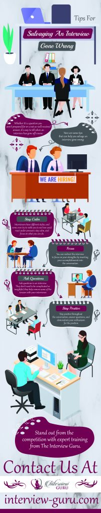Tips For Salvaging an Interview Gone Wrong - Infograph