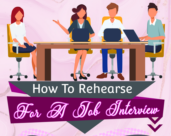 How to rehearse for a Job Interview - Infograph